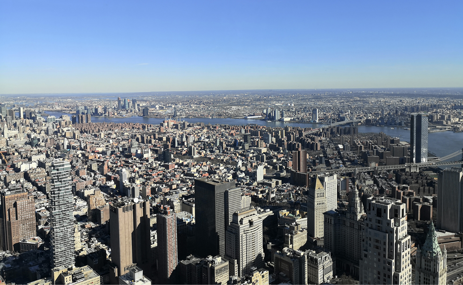 New York from the top of the One World Trade Center.